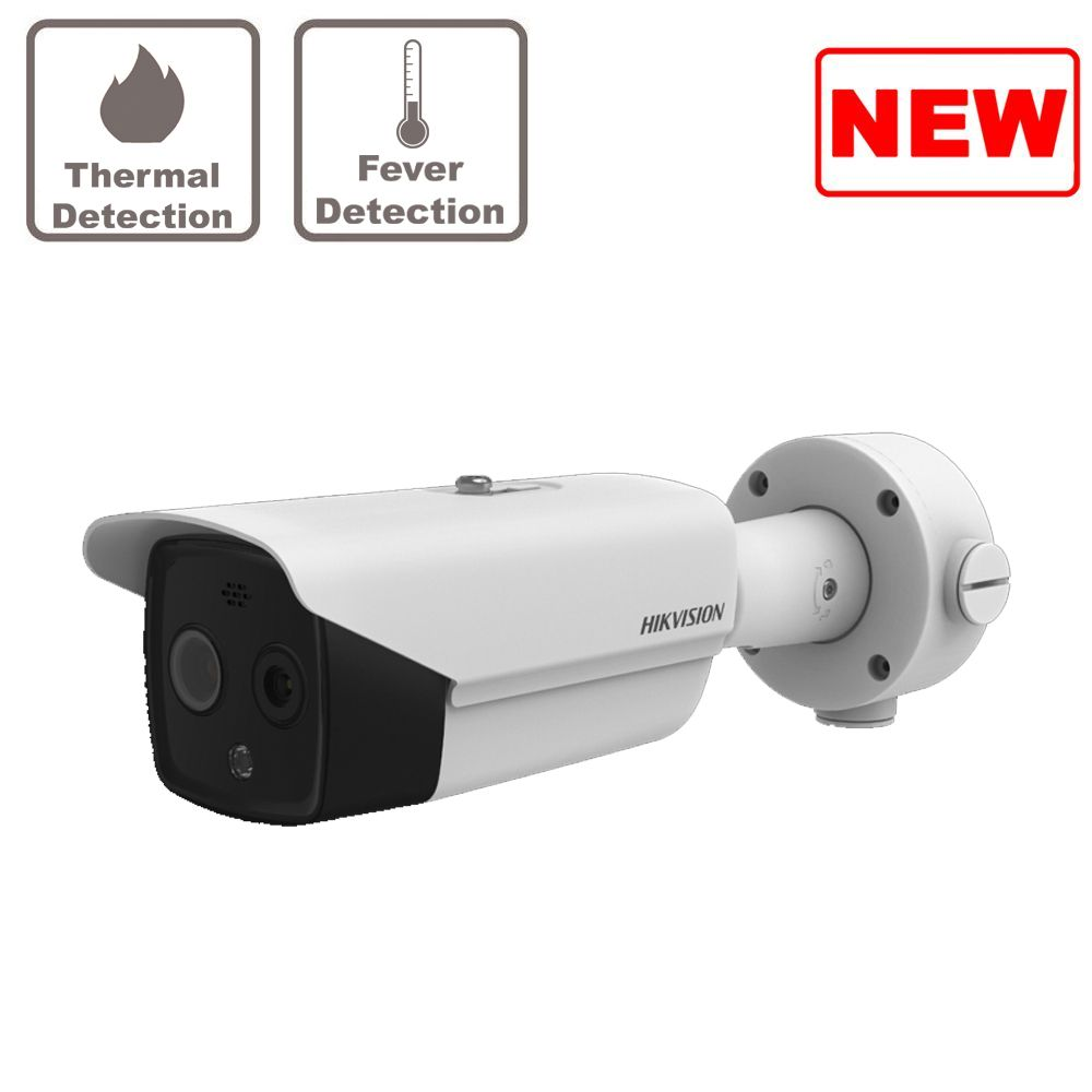 4MP DS-2TD2636B-15/P HikVision Fever Screening Thermal & Optical Network Bullet Camera