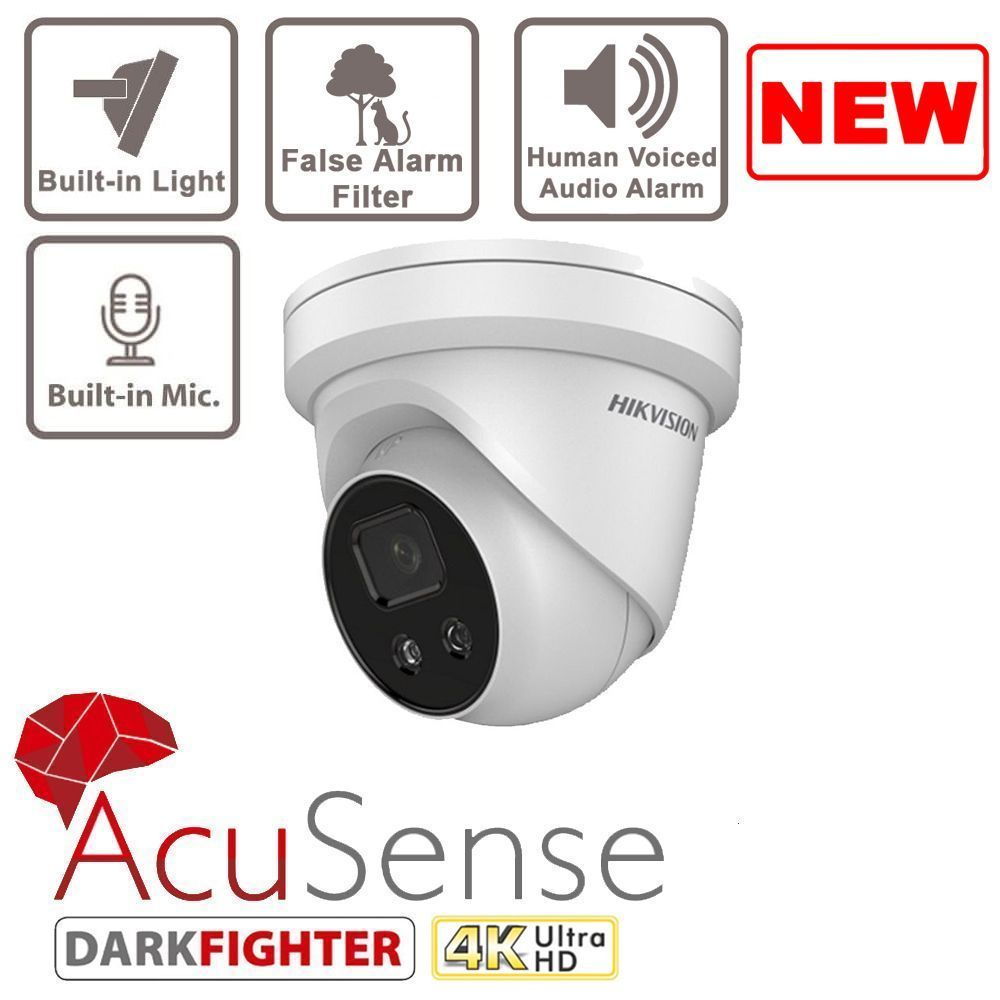 8MP DS-2CD2386G2-ISU/SL AcuSense Turret Network Camera Hikvision