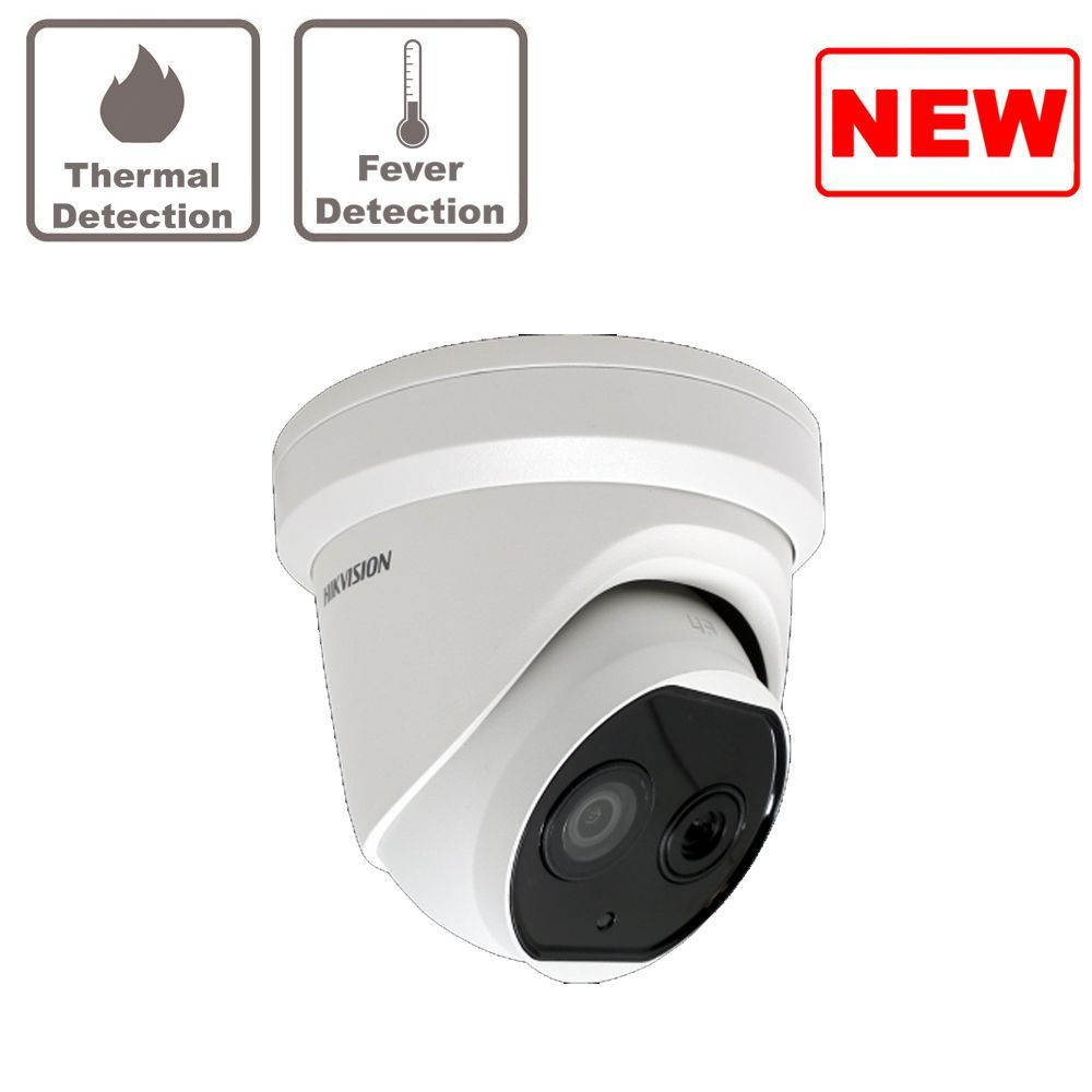 DS-2TD1217B-3/PA Hikvision thermographic turret body temperature measurement camera 3.1mm