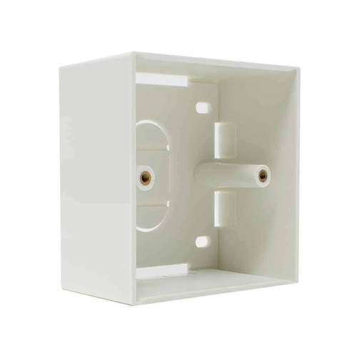 Single and double Gang Back Box BB-868646 Electrical Pattress Back Box White